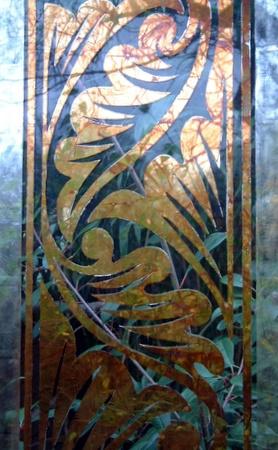 Eglomise Glass Panels